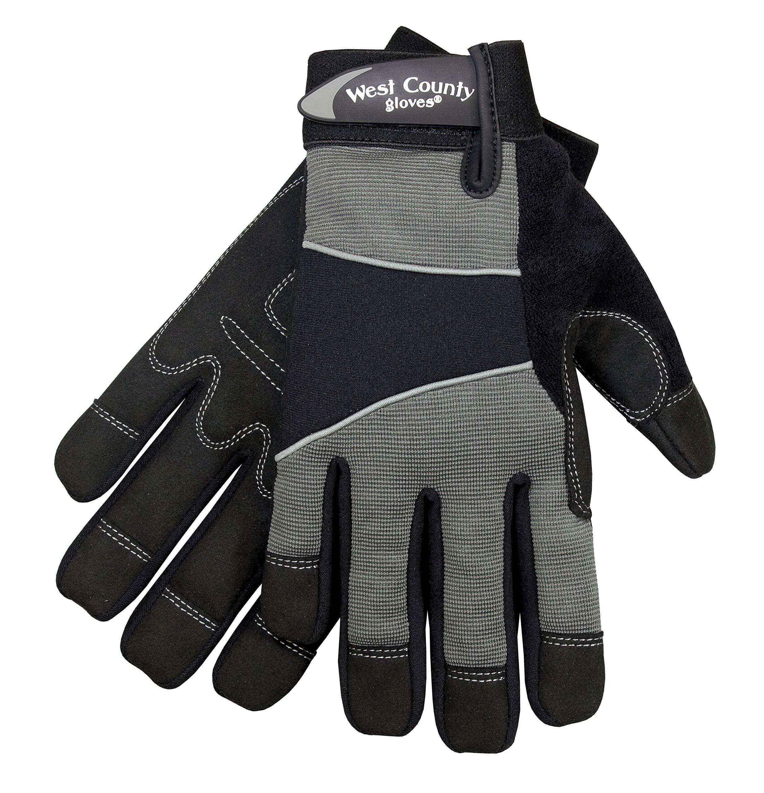 West County Gardener 013C/XXL Men's Work Glove, XX-Large, Charcoal