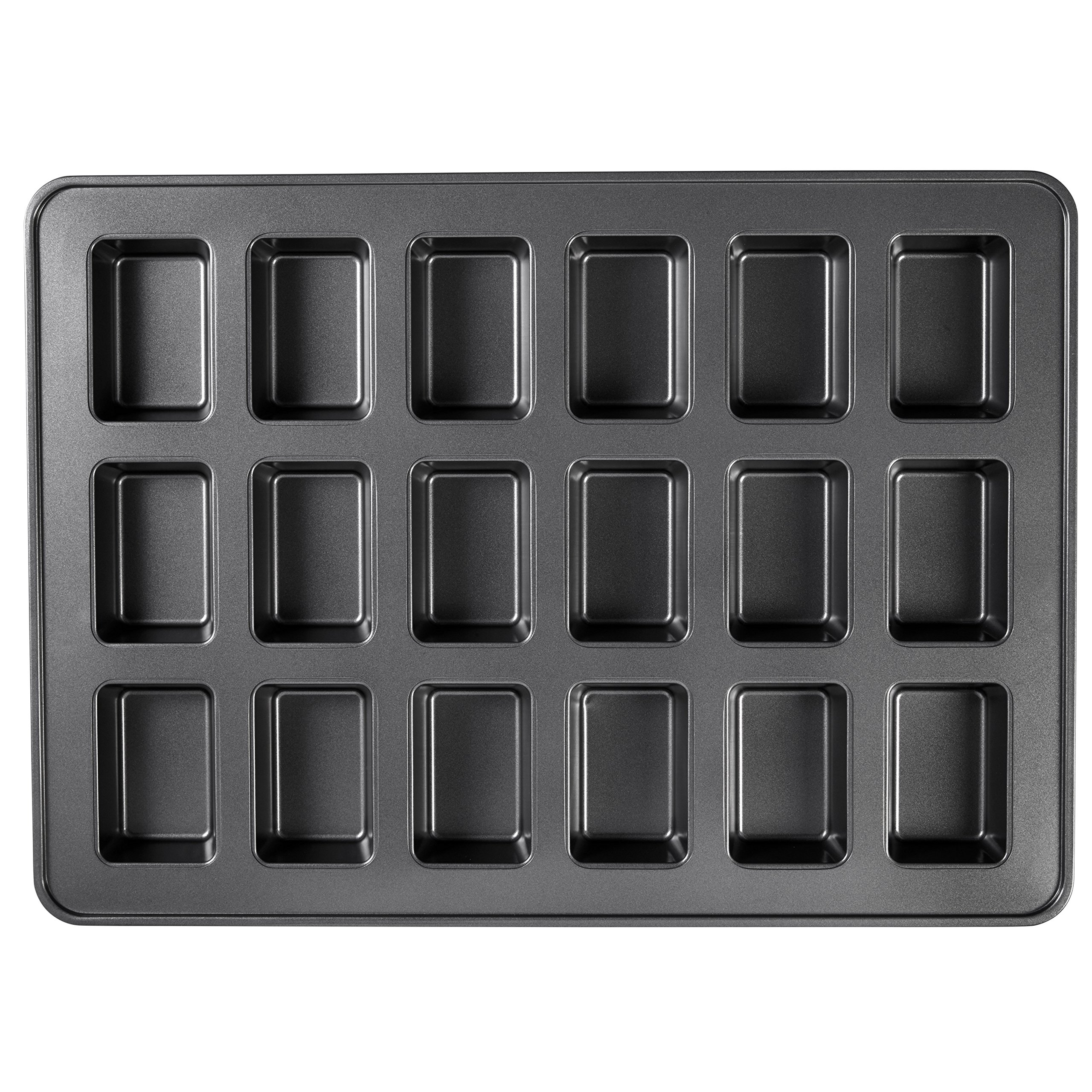 Wilton Perfect Results Premium Non-Stick Bakeware Mini Loaf Pan, 18-Cavity by Wilton