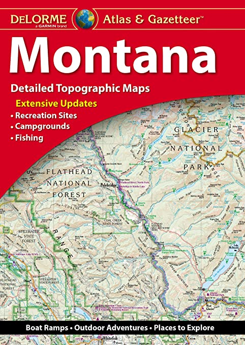 Amazon.com : Garmin DeLorme Atlas & Gazetteer Paper Maps- Montana ...