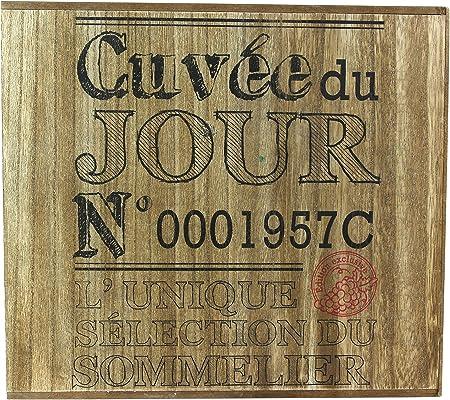 Totally Addict KV7210 Porte - Bouteilles Caisse de vin 6, 30 x 33 x 30 cm, marrón/Negro