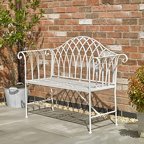 Stupendous Kingfisher Fsvc4 Cream Vintage Garden Bench White Theyellowbook Wood Chair Design Ideas Theyellowbookinfo