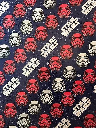 Amazon.com: Disney Star Wars Christmas Wrapping Paper- Star Wars ...