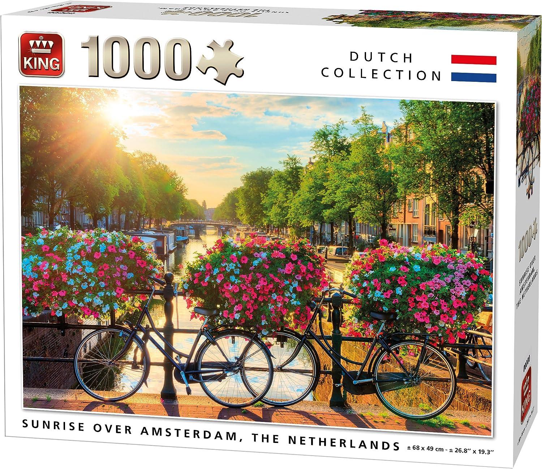 King 5721 Sunrise Over Amsterdam - Puzzle (68 x 49 cm, 1000 piezas ...