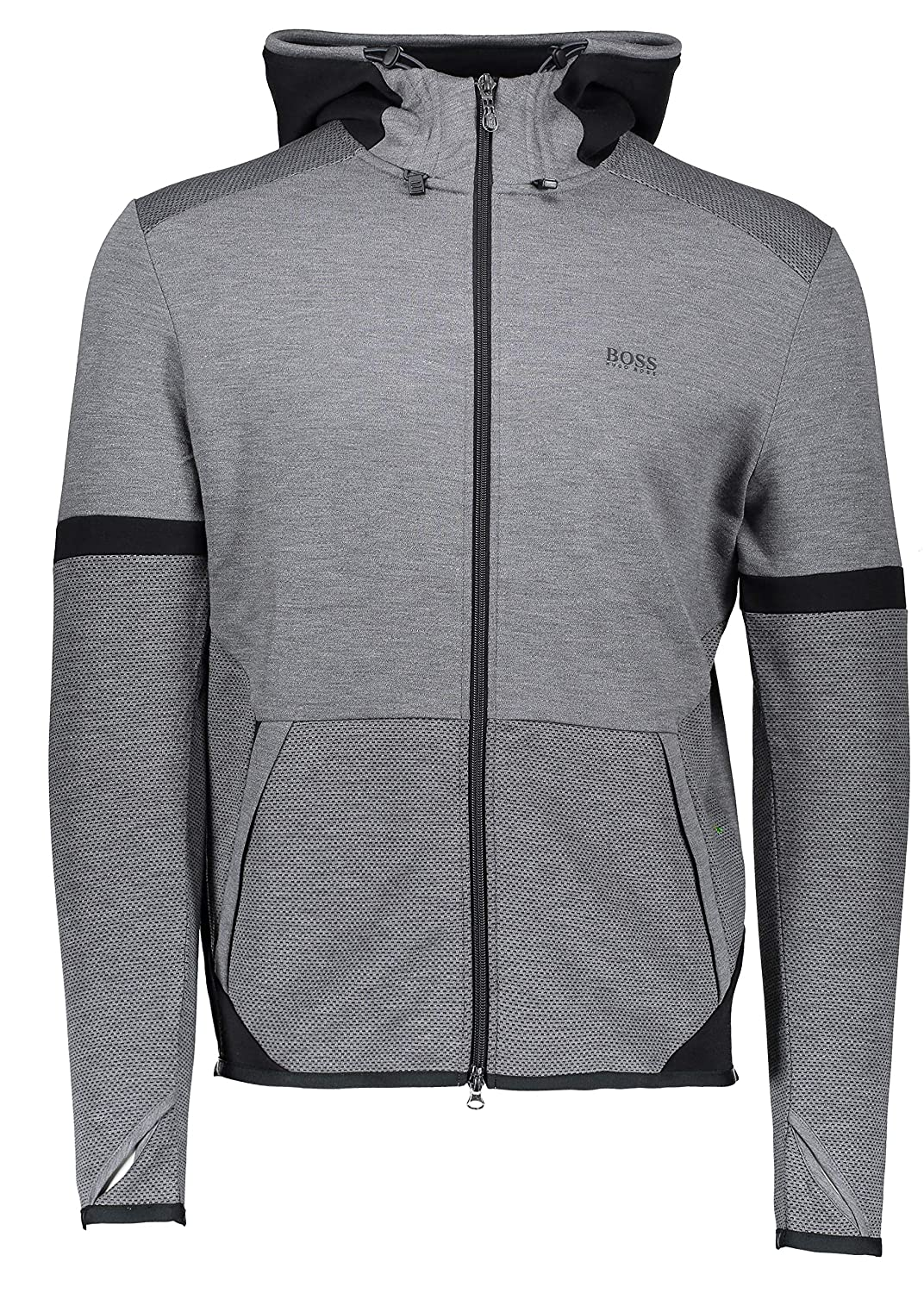 Hugo Boss Mens Hooded Sweatshirt Selnio Grey 50390019 031