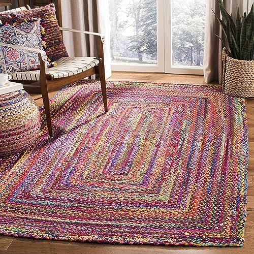 Safavieh Braided Collection BRD210A Hand-woven Bohemian Cotton Area Rug
