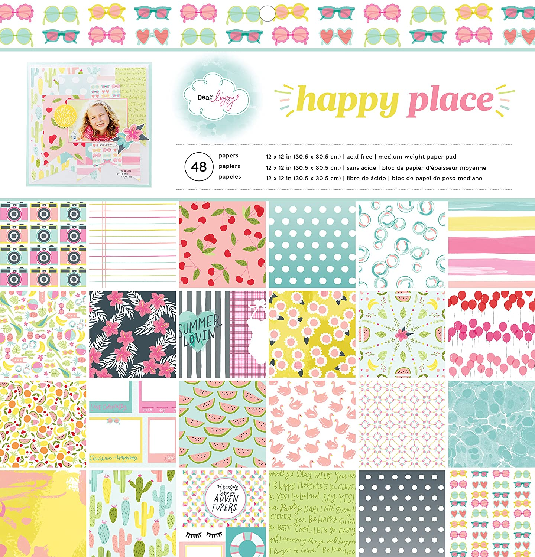 American Crafts Papier Pad 12 Zoll x 12 Zoll 4 Dear Lizzy Happy Place, Acryl, Mehrfarbig B01AH5366C | Berühmter Laden