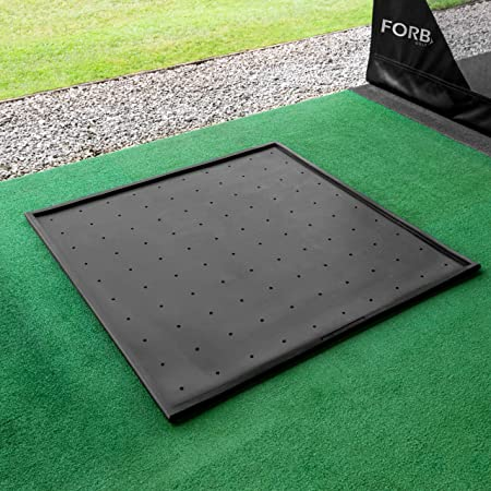 Net World Sports FORB Rubber Golf Mat Base 5.1ft x 5.1ft – Anti-Skid Protective Rubber Base for Use with Driving Range Mats