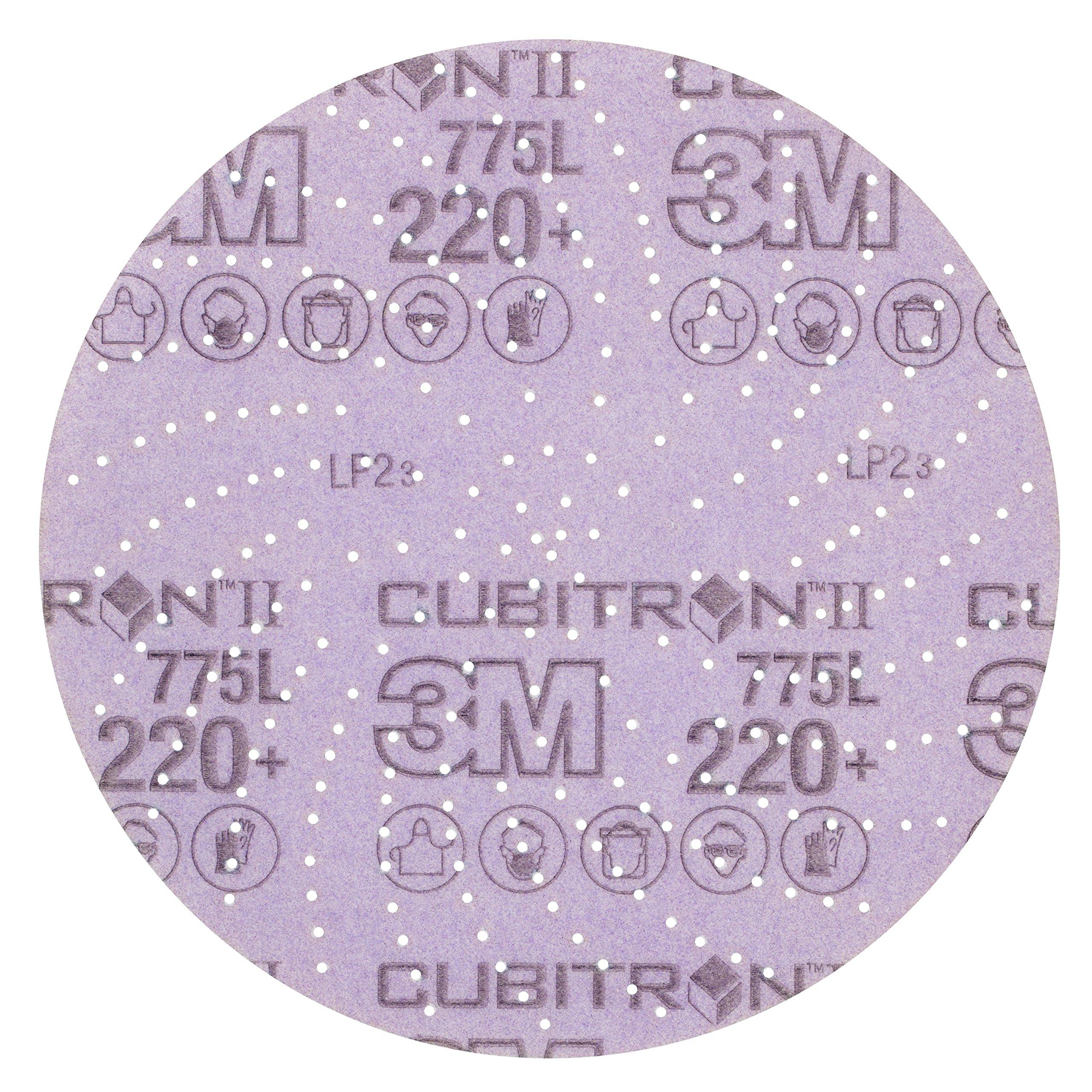 3M Cubitron II Hookit 64270 Clean Sanding Film Disc 775L, 5 in 220+ Film 3 MIL, Film Backing, Aluminum Oxide, 220+ Grit, 5'' (Pack of 50) by Cubitron