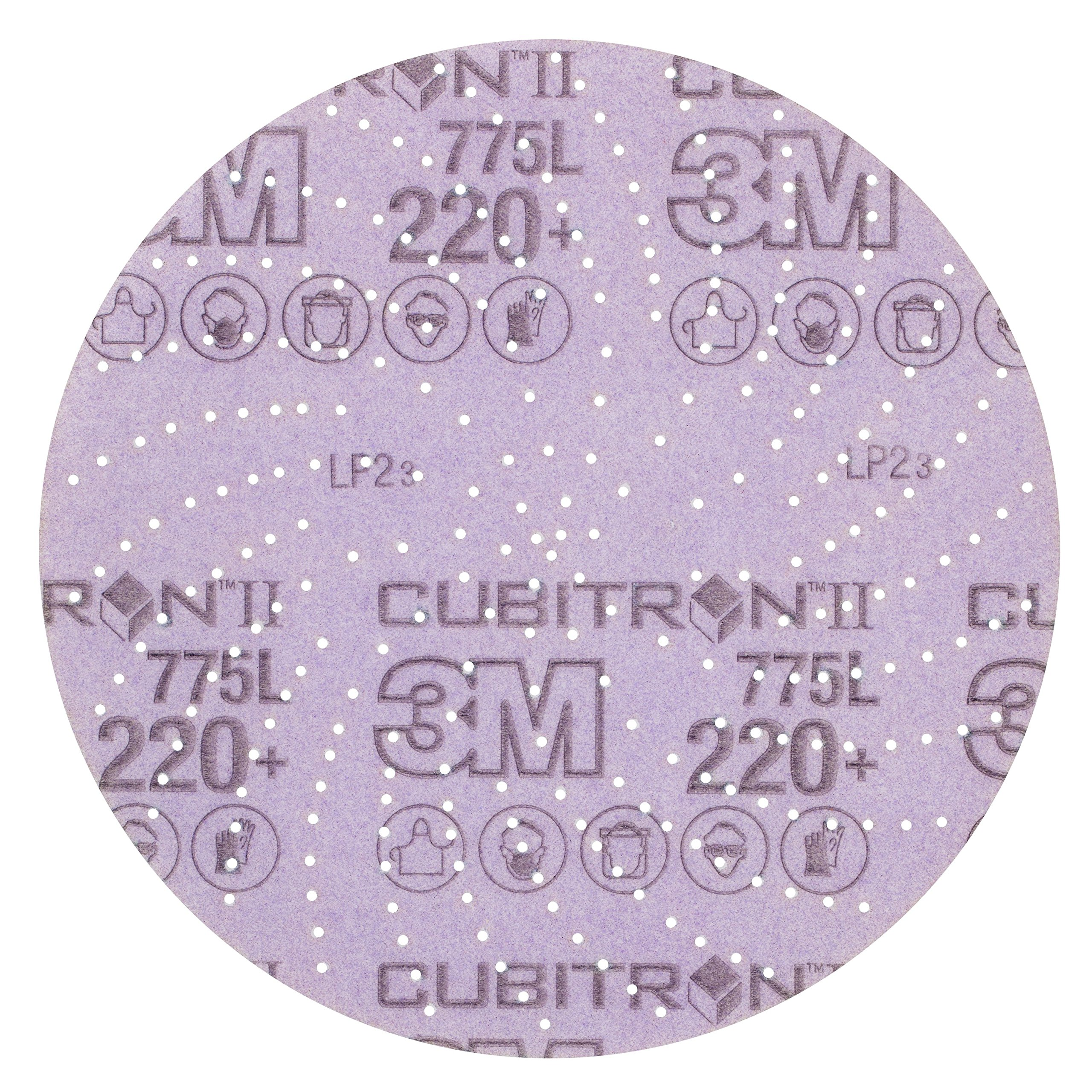 3M Cubitron II Hookit 64270 Clean Sanding Film Disc 775L, 5 in 220+ Film 3 MIL, Film Backing, Aluminum Oxide, 220+ Grit, 5'' (Pack of 50)