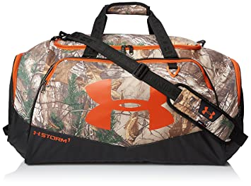 orange under armour duffle bag