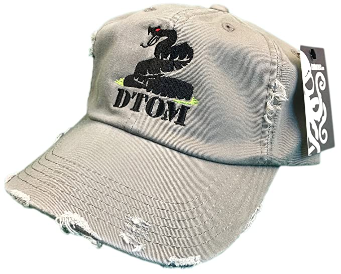 9b37ffee0a5 DTOM Don t Tread On Me Tactical Distressed Hat Olive Green Gadsden ...