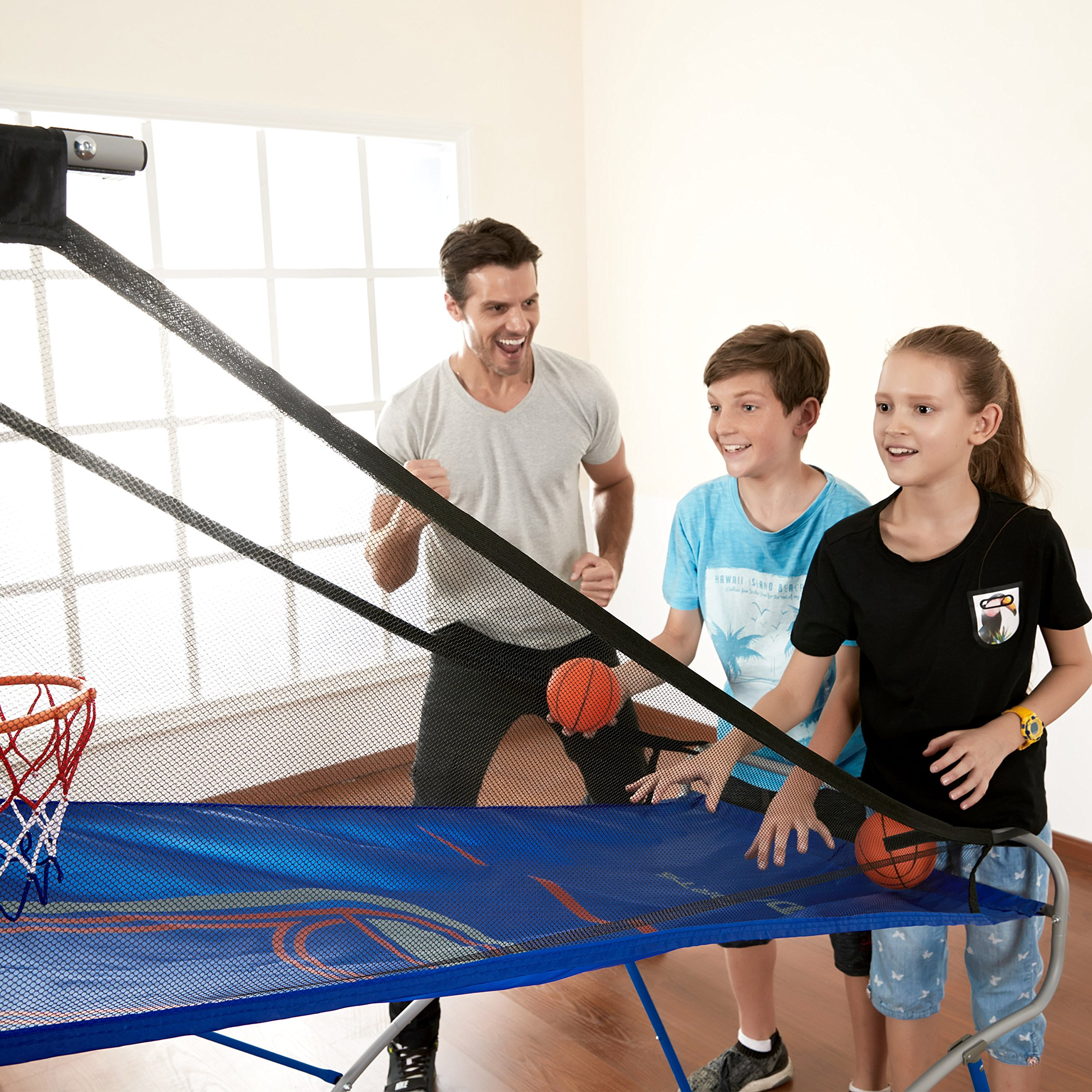 MD Sports BBG019_067M 4 in 1 Junior Basketball Game (Basketball, Soccer, Boxing & KNEE Hockey), Blue by MD Sports (Image #4)