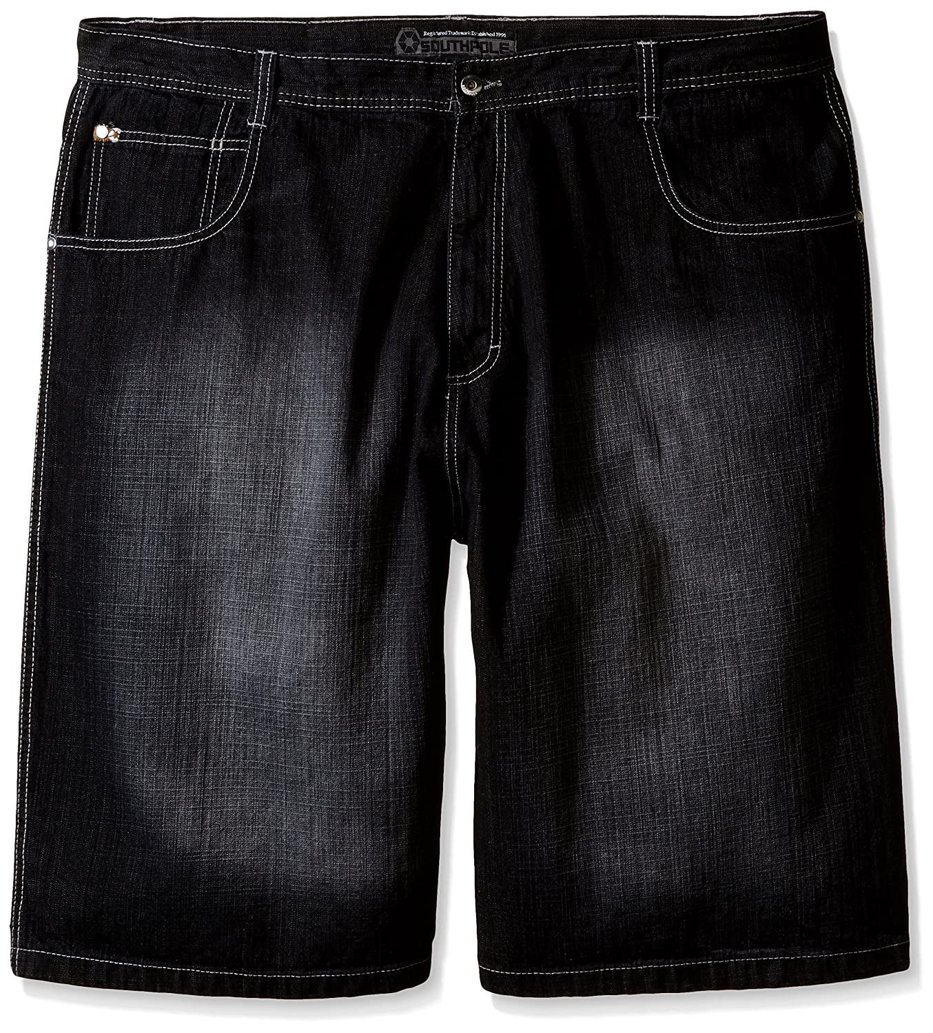Amazon.com  Southpole Men s Big-Tall 4180 Sand Washed Denim Short in Relaxed  Fit  Clothing b860f011f