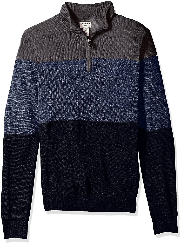 Dockers MensQuarter Zip Soft Acrylic Sweater