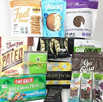 Paleo Keto Gift Box Basket - Almost 4 Pounds of Healthful Snacking! - For Birthday