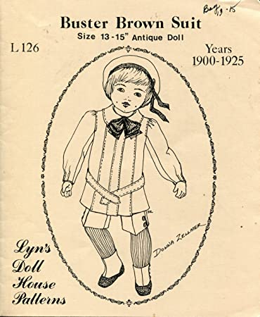 Amazon.com: Lyn's Doll House Patterns ~ Buster Brown Suit for 13 ...