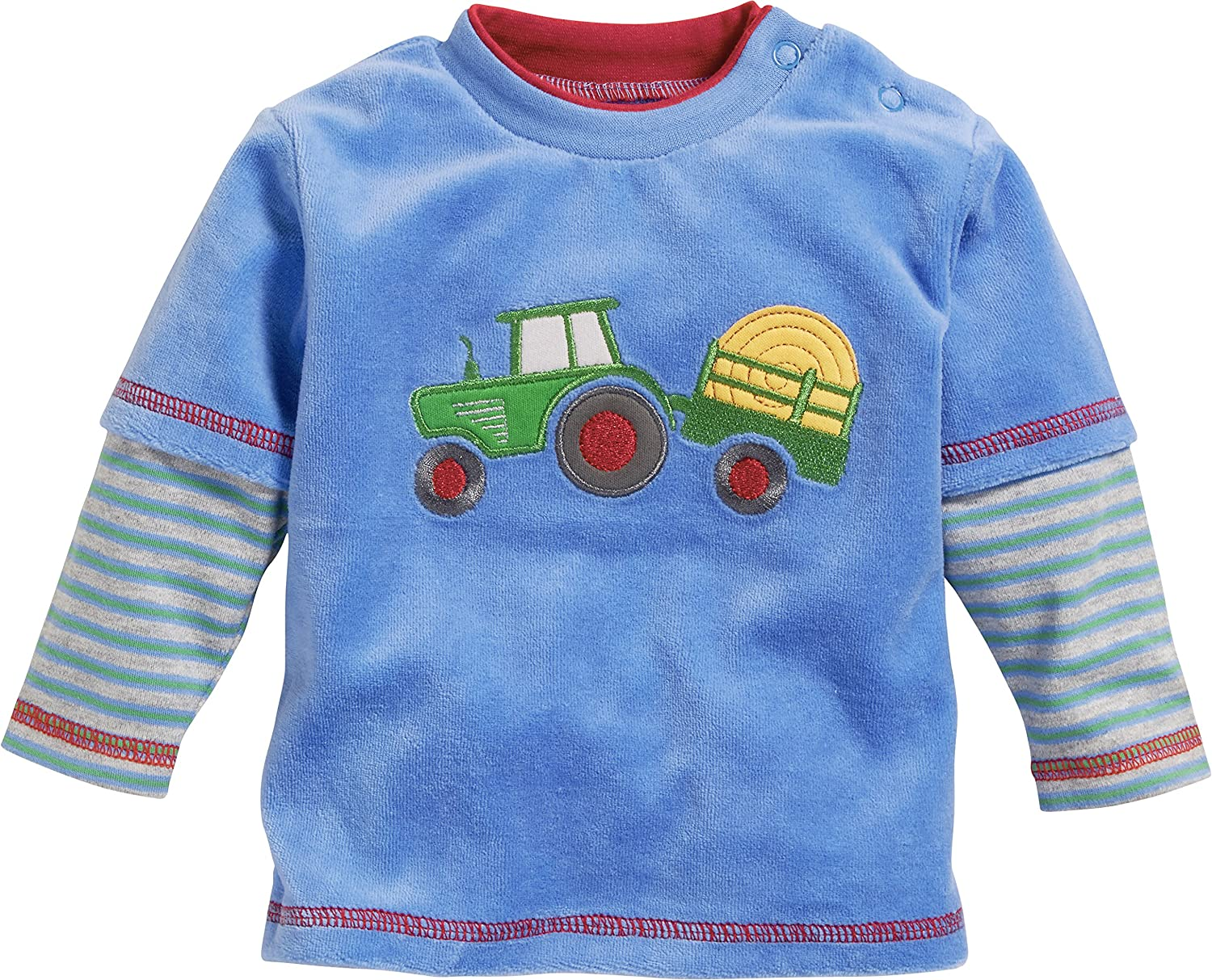 Playshoes Baby Boys' Sweatshirt Nicki Traktor 813036