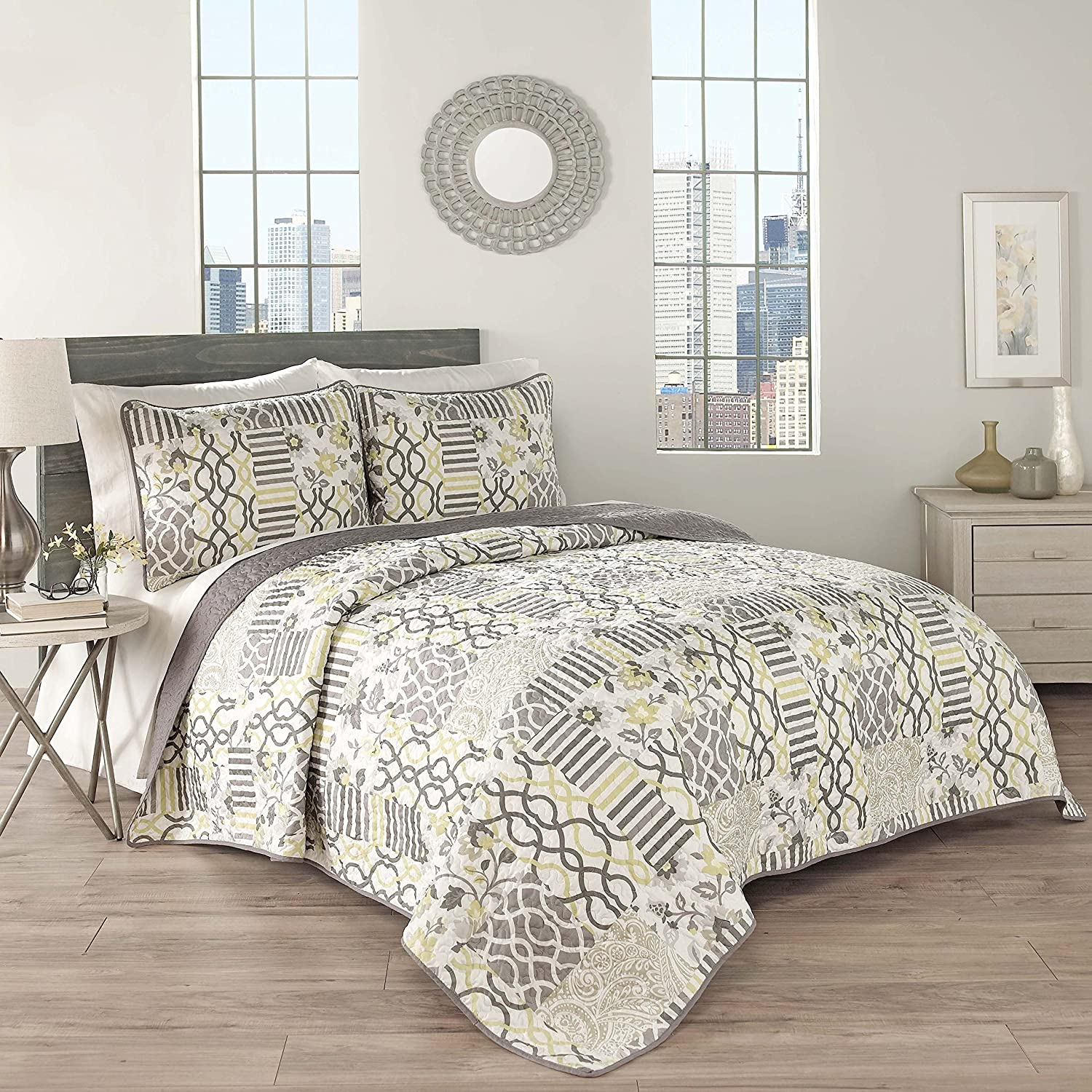 3-Piece Queen Quilt Collection, Sterling