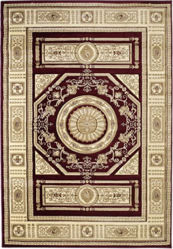 United Weavers of America Contours Camryn Burgundy Rug Rug Size 1 10 x 3