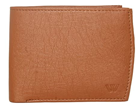 Wildland Men Tan Artificial Leather Wallet  3 Card Slots  Men's