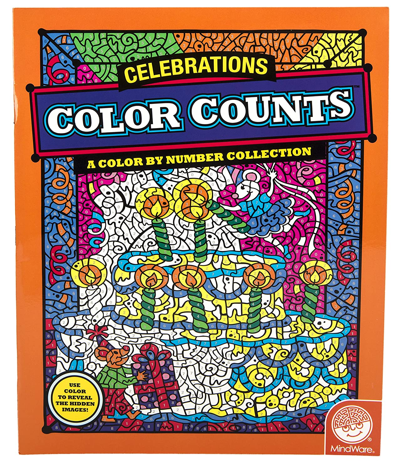amazoncom color counts celebrations toys games - Mindware Coloring Books