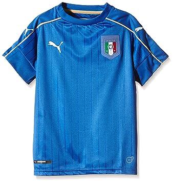 Puma - Camiseta de Fútbol de la Primera Equipación de Italia, Réplica para Niño,