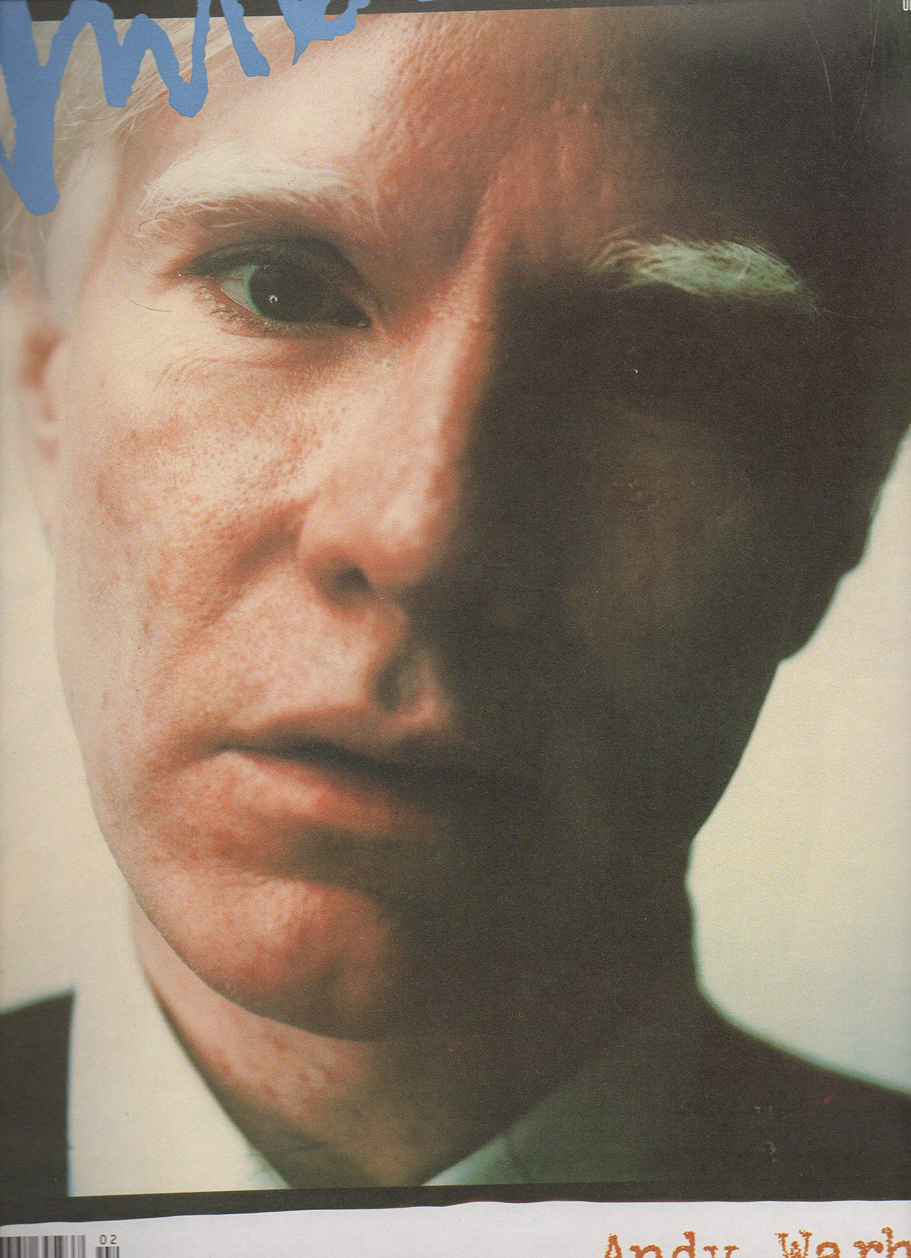 interview magazine february 1989 andy warhol single back issue