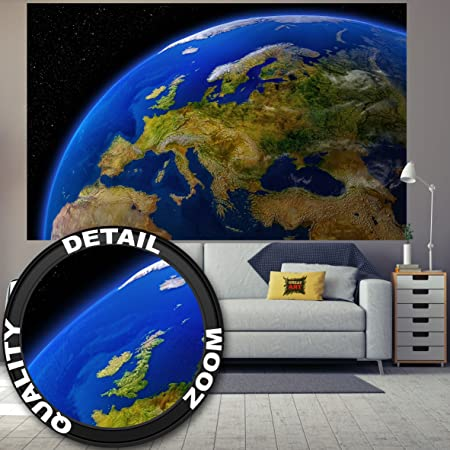Photographic wallpaper europe during the day wall picture photographic wallpaper europe during the day wall picture decoration continents planet earth galaxy world map daylight gumiabroncs Choice Image