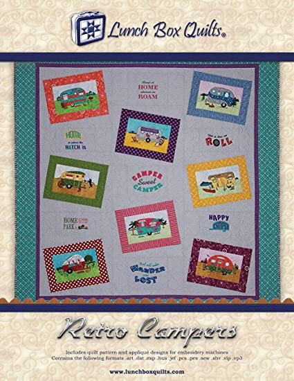 Amazon Retro Camper Embroidery Pattern Quilt Pattern Applique