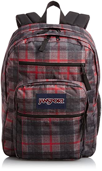 Jansport Big Student Backpack Red Tape Knit Plaid Amazon Bags