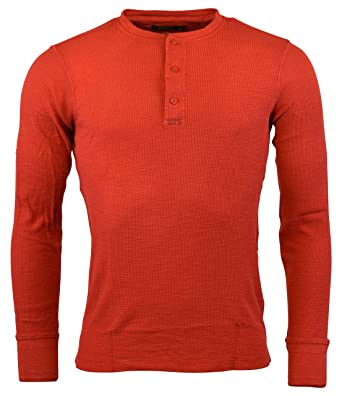 86bc69fbc Polo Ralph Lauren Mens Cotton Jacquard Waffle Knit Henley - M - Bistro Red  at Amazon Men's Clothing store: