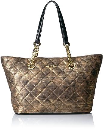cf9fa1a75b61 Amazon.com: Calvin Klein Florence Nylon Novelty Chain Tote: Clothing