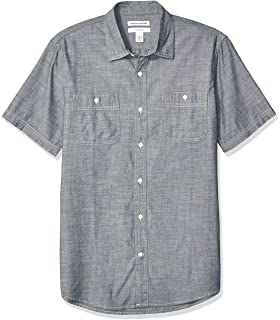 Essentials Short-Sleeve Stain and Wrinkle-Resistant Work Shirt Hombre