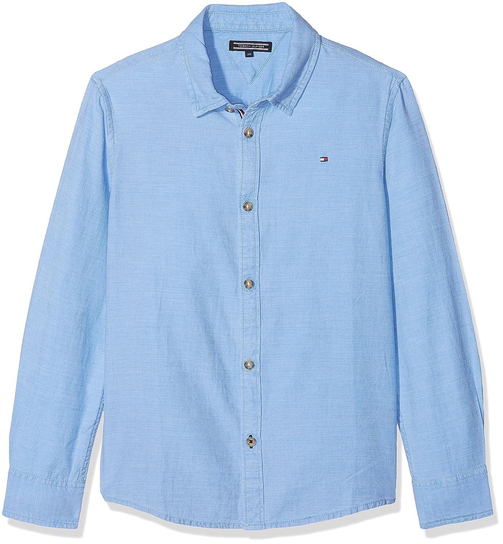 Tommy Hilfiger Jungen Hemd Acid Wash Structure Shirt L S  Amazon.de   Bekleidung 81c68176a5