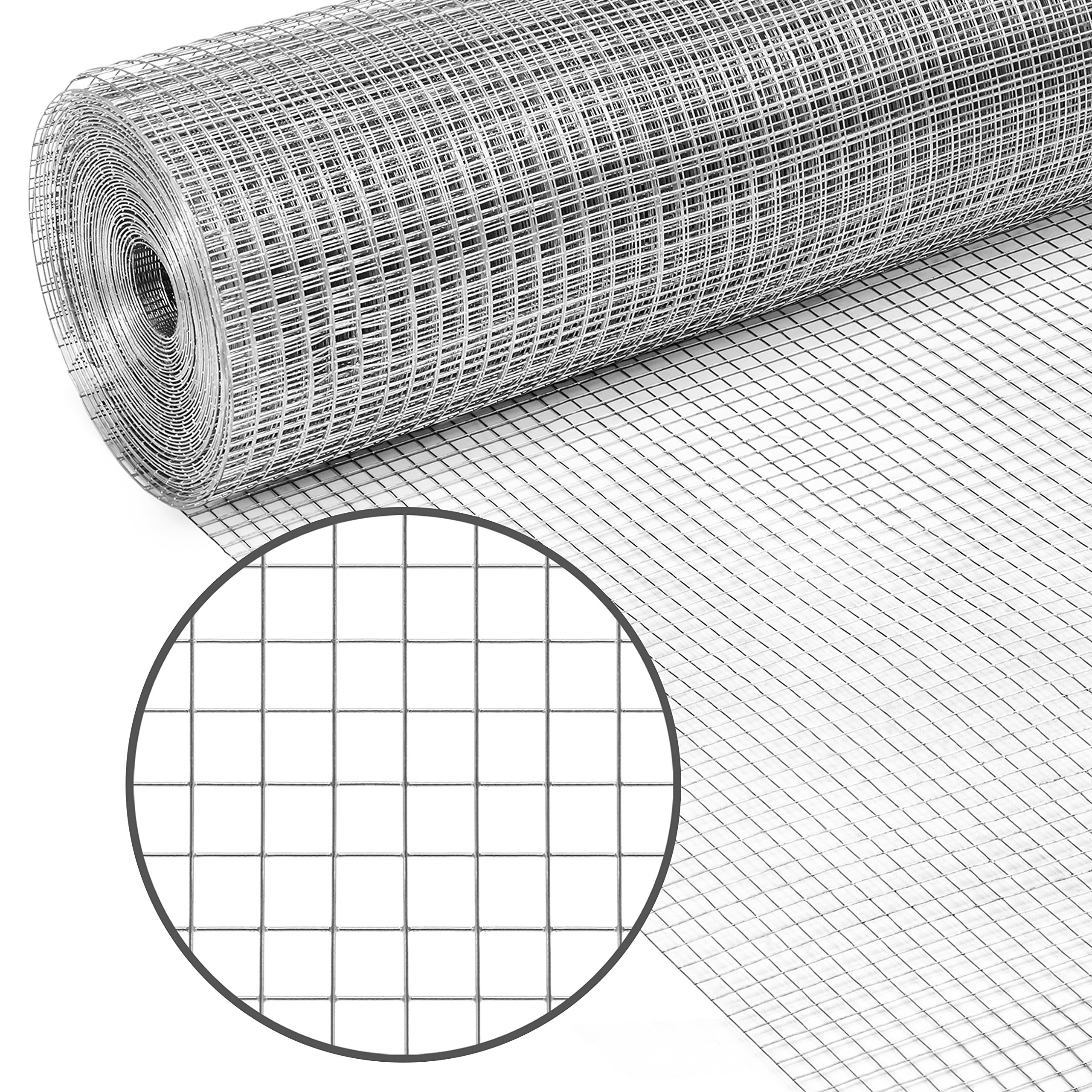 Best Choice Products Multipurpose 3x50-foot Double-Zinc 19-Gauge Galvanized Chicken Cage Wire Fence Netting for Poultry Coop, Animal, Garden Protection w/ 0.5-inch Openings, Silver by Best Choice Products
