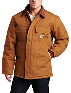 fc47676b76f Amazon.com  Carhartt Men s Quilt Lined Zip To Thigh Bib Overalls R41 ...