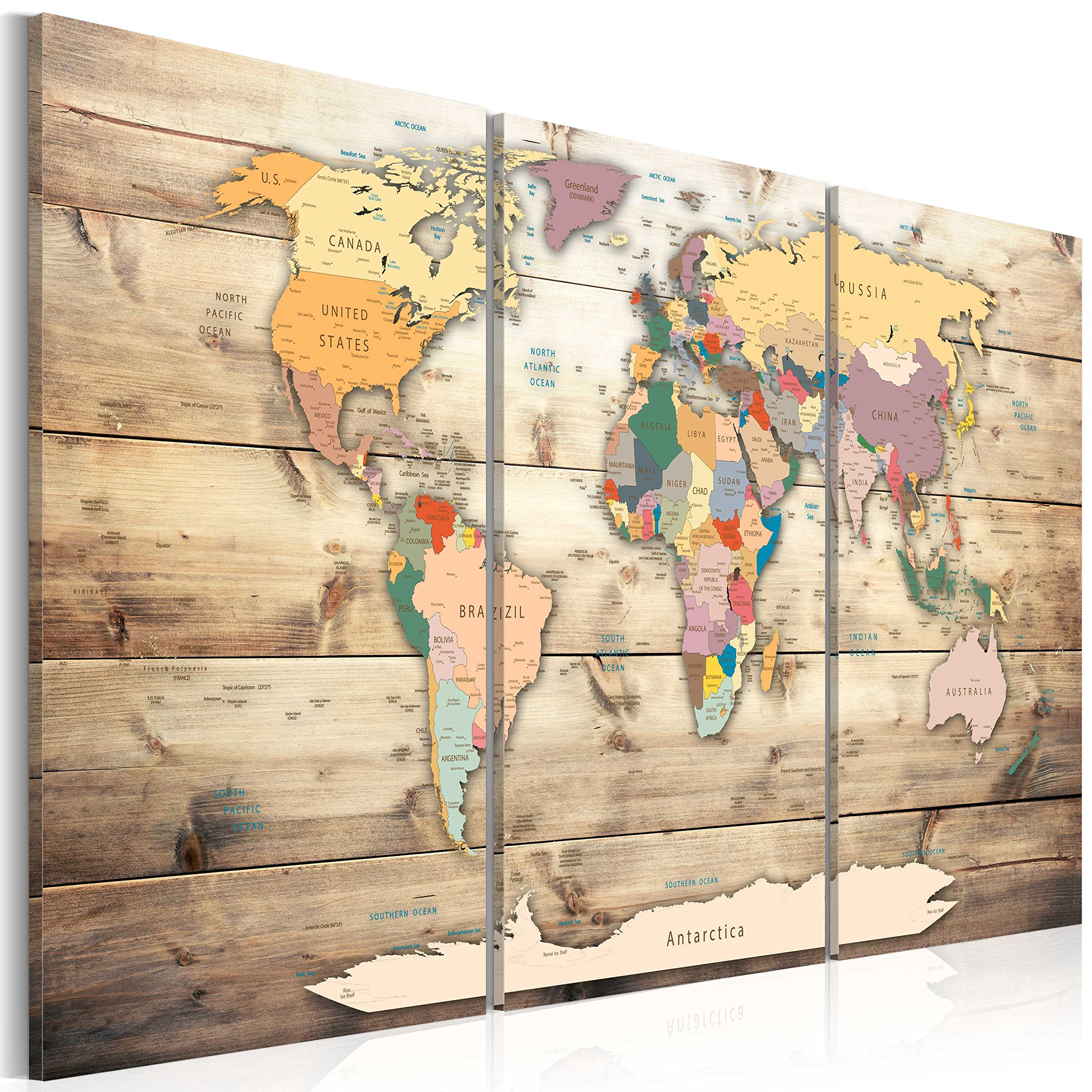 World map wall art amazon murando image 120x80 cm 472 by 315 in gumiabroncs Gallery