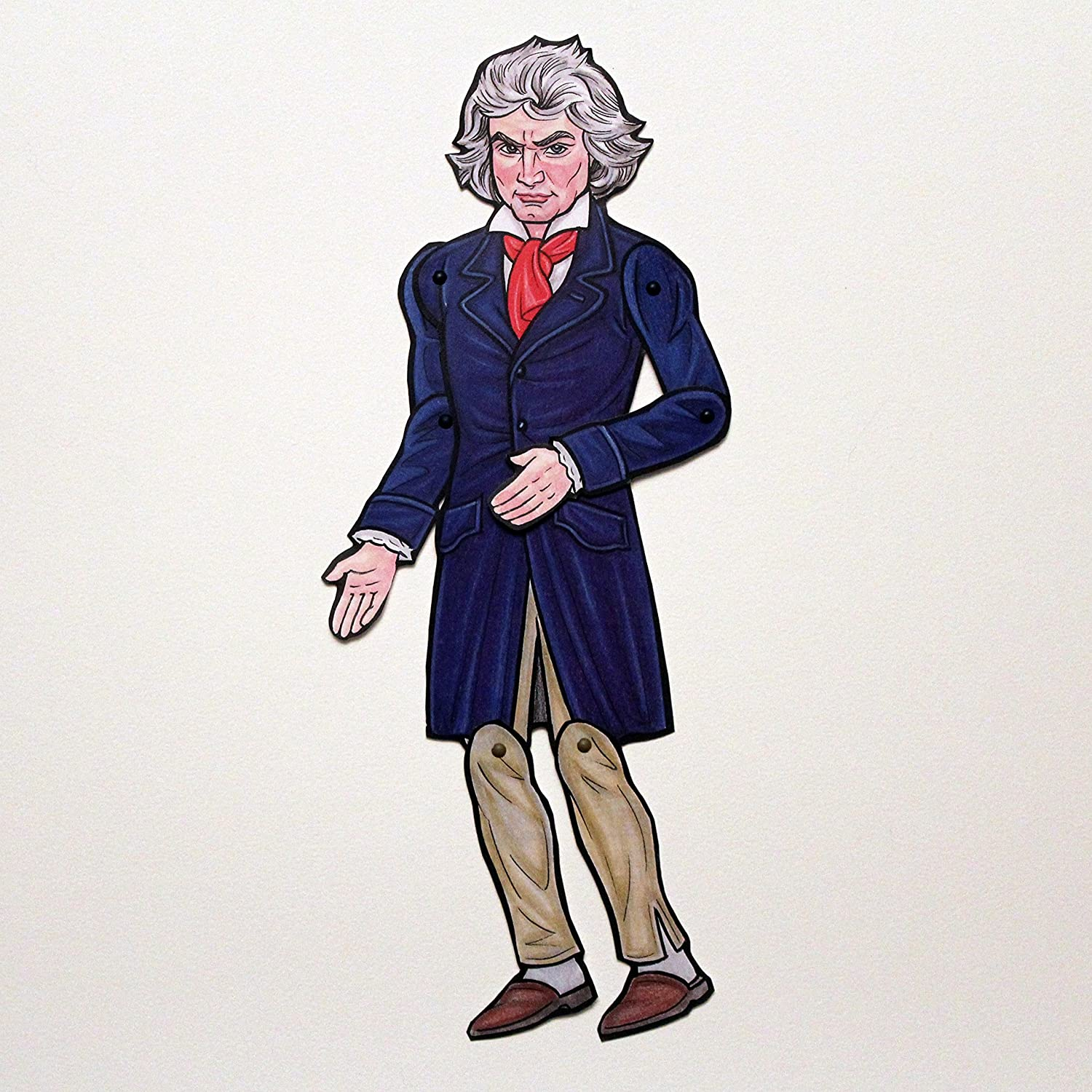 Ludwig van Beethoven Articulated Paper Doll