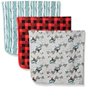 Rosie Pope Baby Boys Blankets 3 Pack, Mountain Theme, One Size