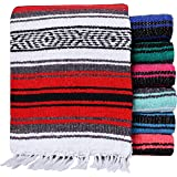 El Paso Designs - Mexican Yoga Blanket - 51 x 74 inches - Colorful Studio Mexican Falsa Blanket - Ideal for Yoga…