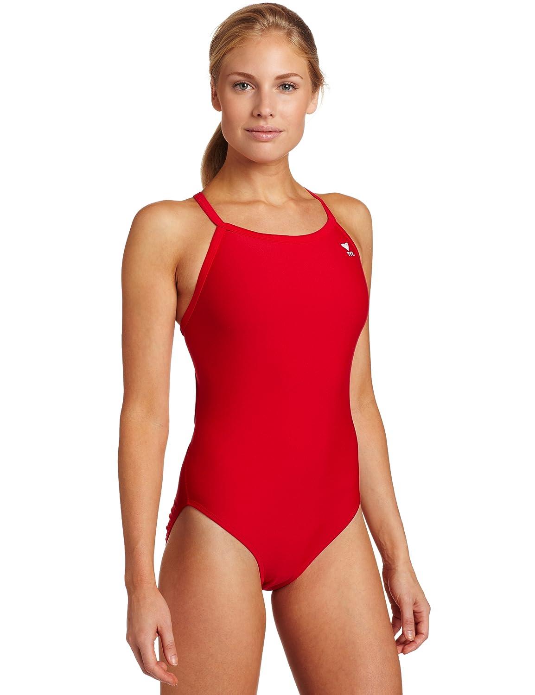 8384051b679 Amazon.com : TYR Sport Women's Solid Diamondback Swimsuit : Athletic One  Piece Swimsuits : Clothing