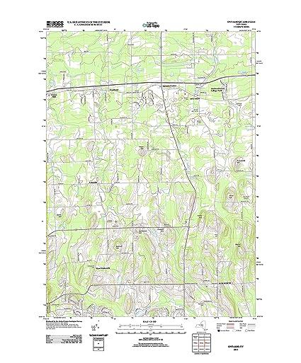 Ontario Topographic Map.Amazon Com Topographic Map Poster Ontario Ny Tnm Geopdf 7 5x7 5