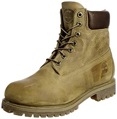 Timberland 6in premium boot, Chaussures montantes homme Jaune (Wheat Burnished Full Grain)