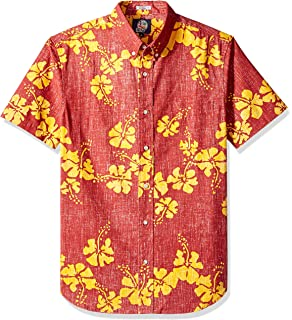 d690329e03a Reyn Spooner Men s 50th State Flower Spooner Kloth Tailored Fit Hawaiian  Shirt