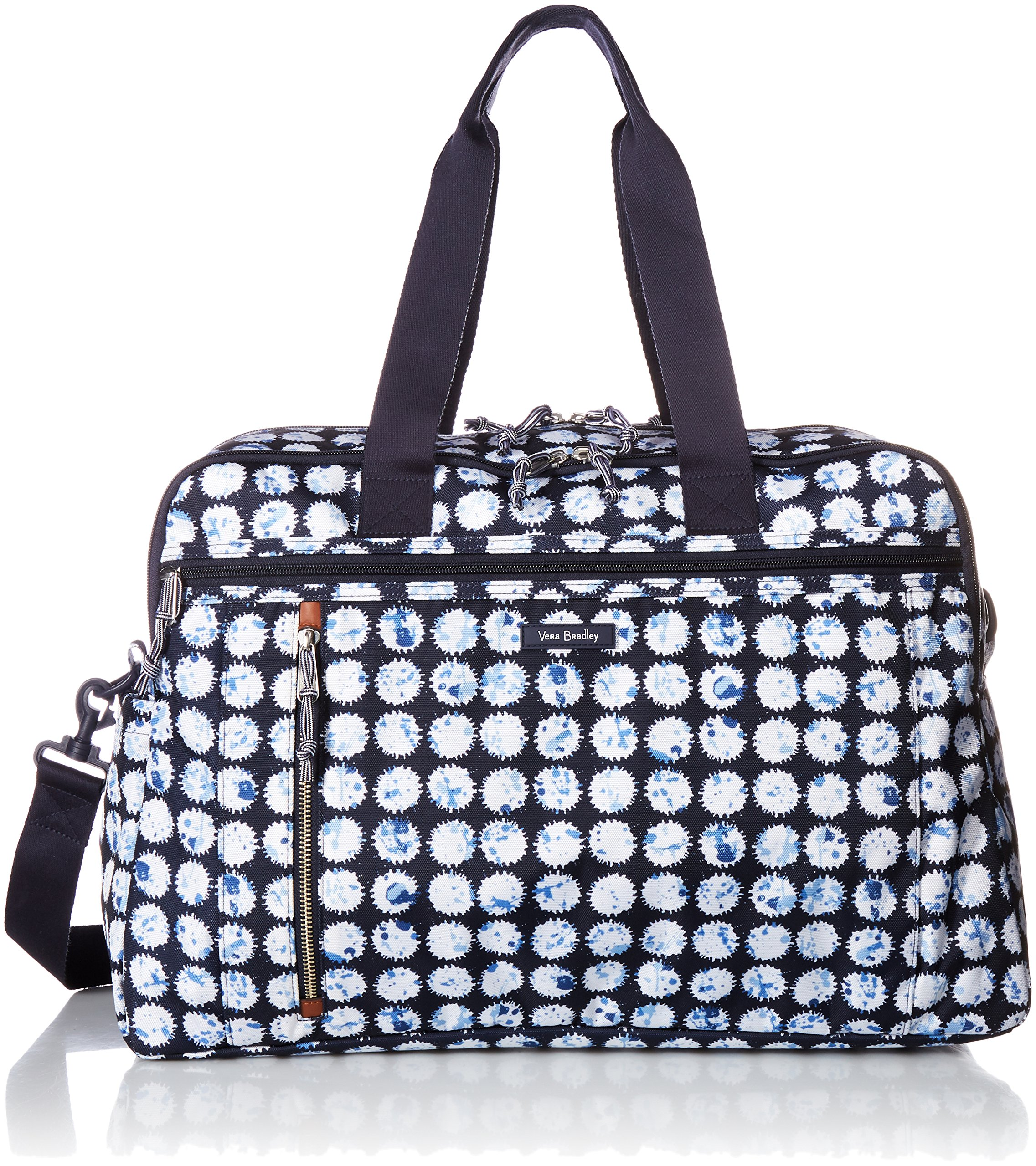 Vera Bradley Lighten up Weekender Travel Bag, Polyester, Splash Dot