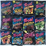 Trolli Gummy Candy Variety Bundle 12 Different Flavors (1 Of Each) Peg Bags Gummy Bears, Squiggles, Sour Brite Gummi, Apple, Peach and More!