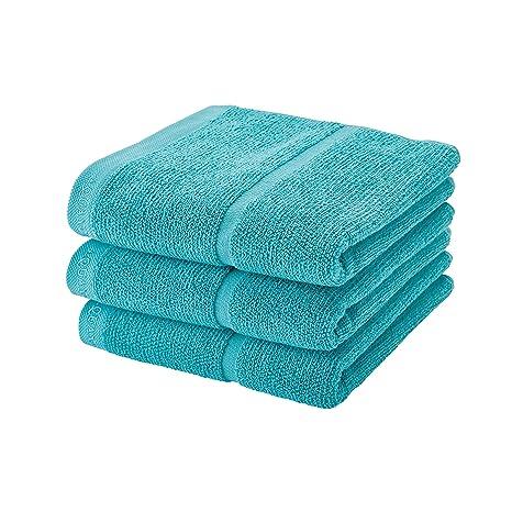 3 toallas de mano AQUANOVA Adagio Lagune (55 x 100 ...