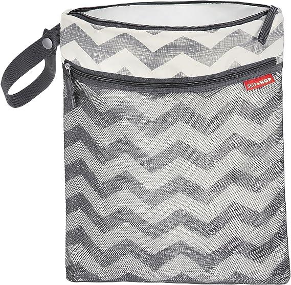 Skip Hop Grab and Go Wet//Dry Bag Chevron Grey