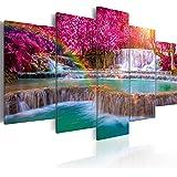 murando - Cuadro en Lienzo 200x100 cm - Impresion en calidad fotografica - Cuadro en lienzo tejido-no tejido - Paisaje Cascada Naturaleza c-B-0128-b-m