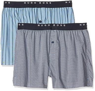 0fa77e098bc8 BOSS Men's Woven Ew Boxer Shorts Pack of 2, White (Open Miscellaneous),